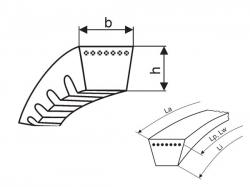 Klínový řemen 3VX 670 - 9x1702 La optibelt Super X-POWER