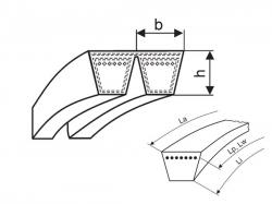 Klínový řemen násobný 2-HA 2576 La - 2-A 2540 Li (A 100) optibelt KB VB